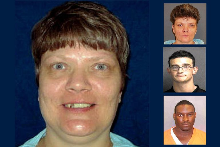 Teresa Lewis, 2002 (L), Teresa Lewis, 2010 (R-Top), Matthew Shallenberger (R-Middle), Rodney Fuller (R-Bottom)