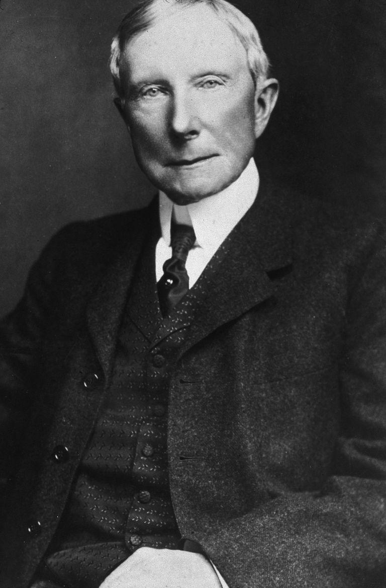 Picture of industrialist and philanthropist John D. Rockefeller.