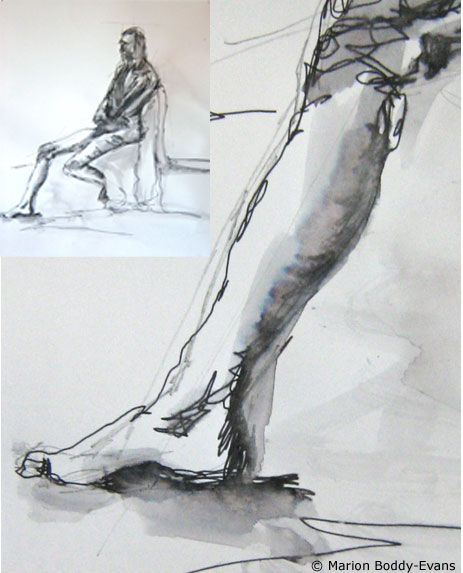 Art Technique Watersoluble Pen And Wash