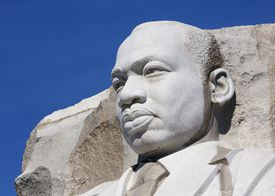 Statue of Dr Martin Luther King Jr
