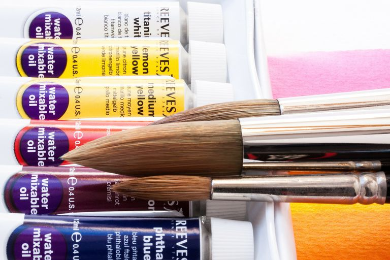 Water mixable oil paints