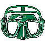 omersub freediving mask, green
