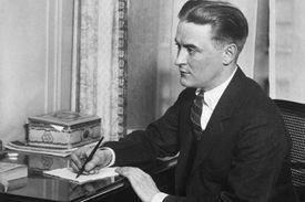 F. Scott Fitzgerald at writing desk