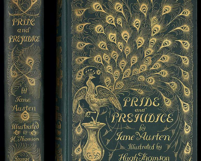 "The famous ""peacock cover"" 1894 edition of Pride and Prejudice"