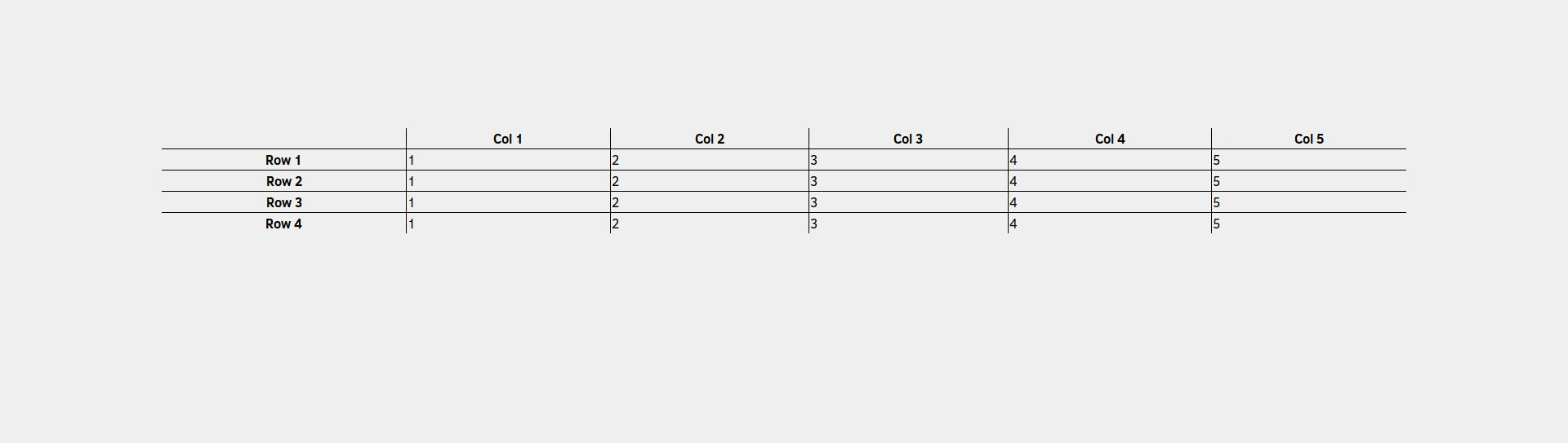CSS table with the last row border removed