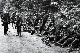 German troops at the Battle of Caporetto.