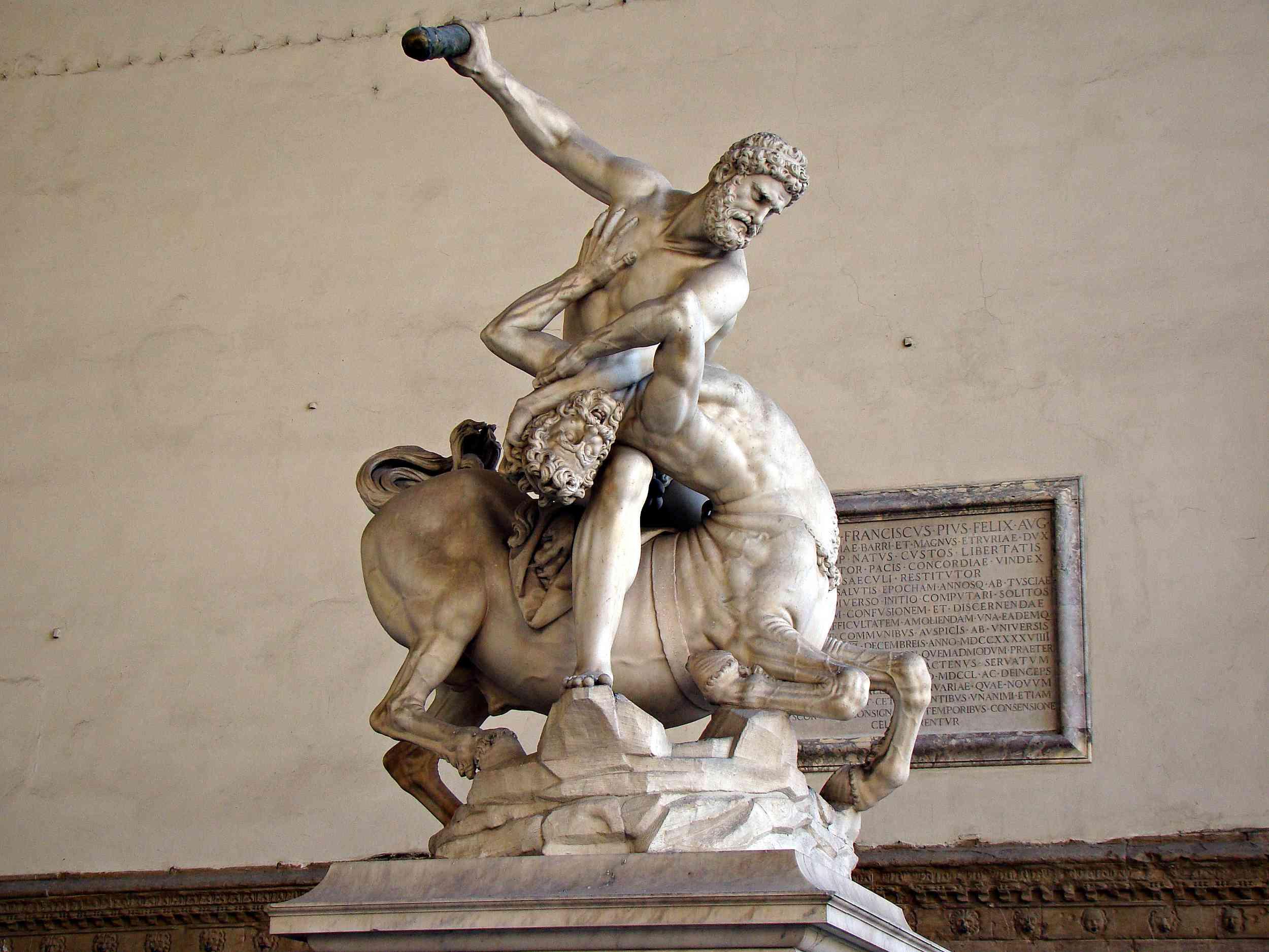 Giambologna's Hercules and the Centaur Nessus