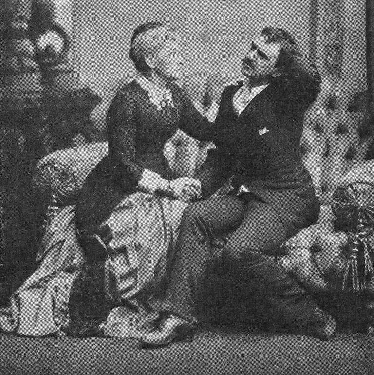Hedvig Winterhjelm and August Lindberg in Ibsen's play Ghosts