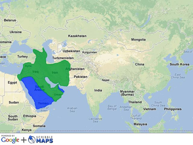 Map of Islam in Asia, 632 CE