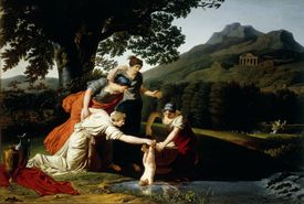 Thetis dipping Achilles into Styx, by Antoine Borel Rogat