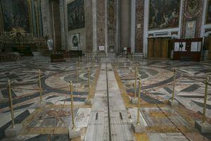 Interior of Santa Maria degli with prime meridian