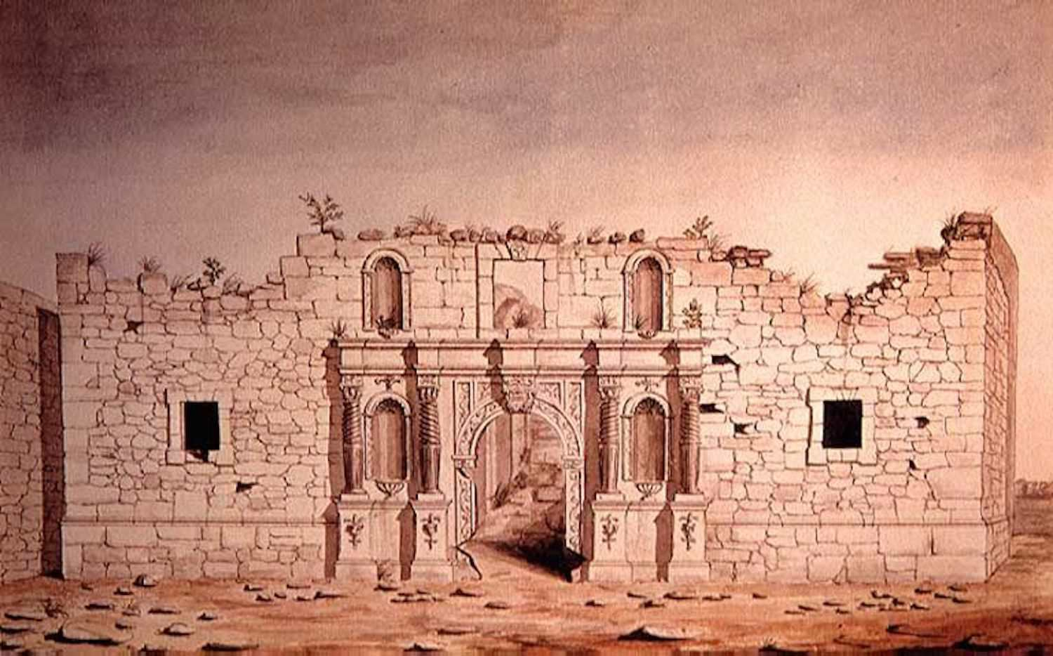 The Alamo Mission, painted 10 years after the battle