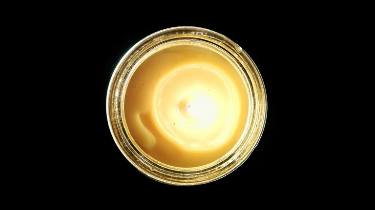Directly Above Shot of Tea Light Candle