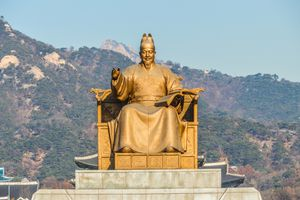 Statue of King Sejong in Seoul