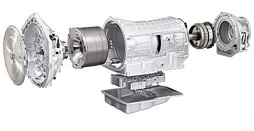 2009 Chrysler Aspen hybrid transmission exploded view