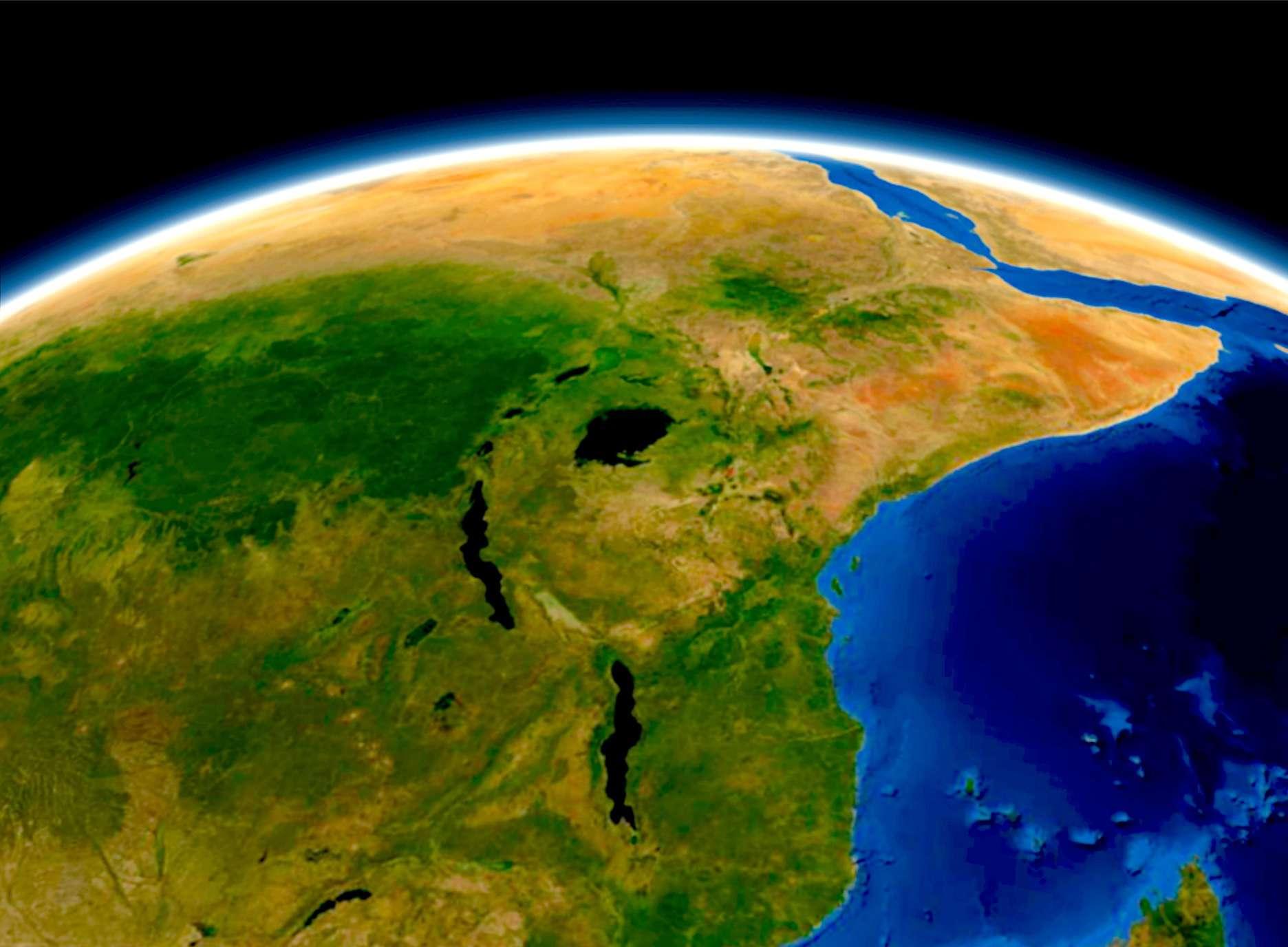 Mappa satellitare di Great Rift Valley