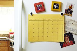 Calendar on refrigerator