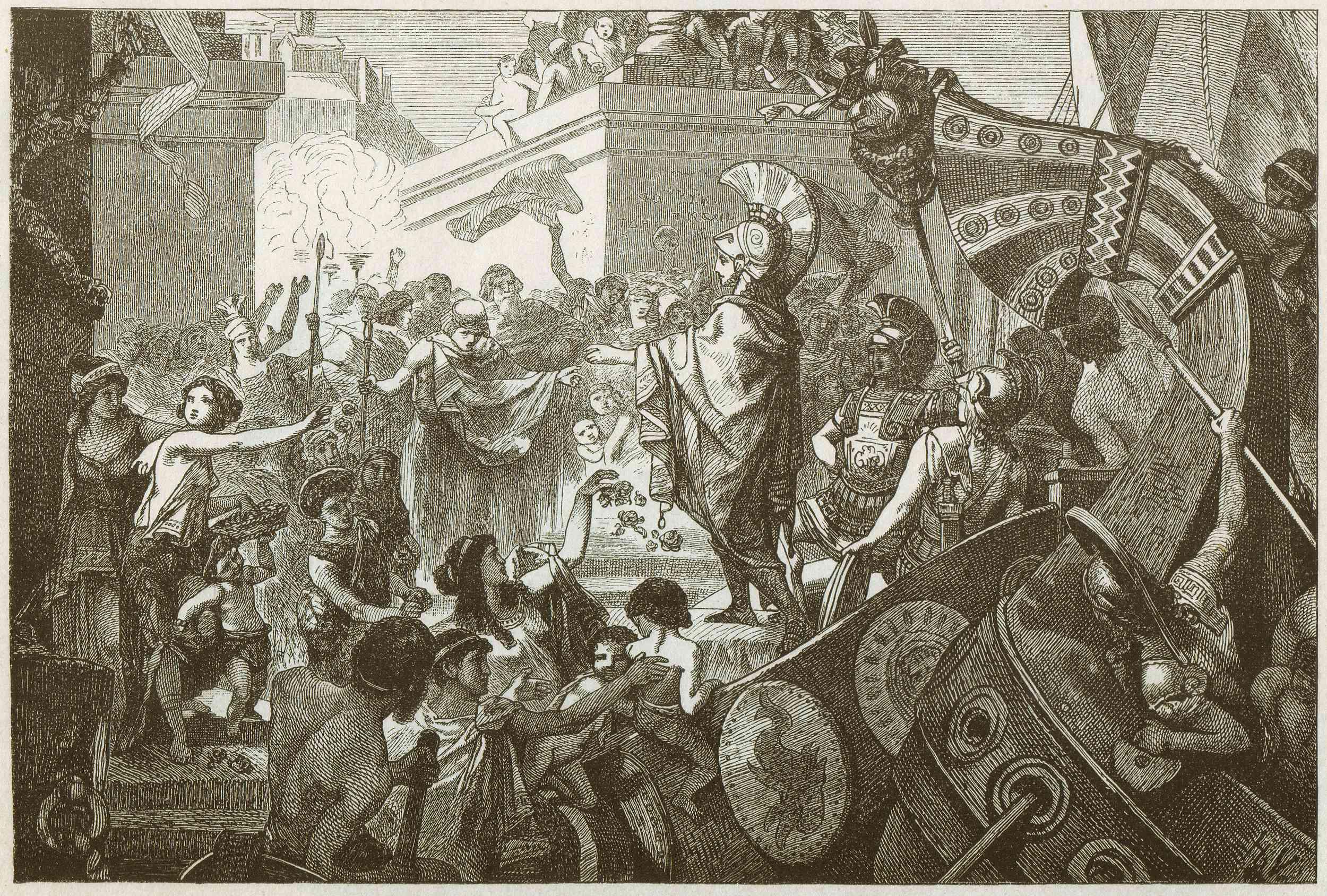 Alcibiades return to Athens (408 BCE)