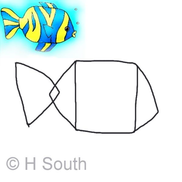 How To Draw A Cartoon Tropical Fish