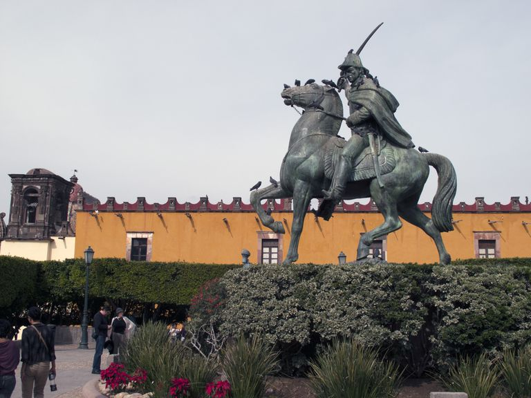 Staue Of Ignacio Allende Civic Square
