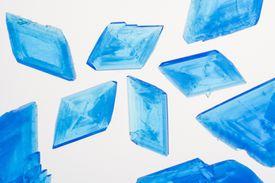 blue copper sulfate crystals