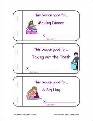 Printable Mother S Day Coupon Book And Activities