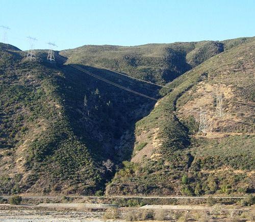 A steep ravine
