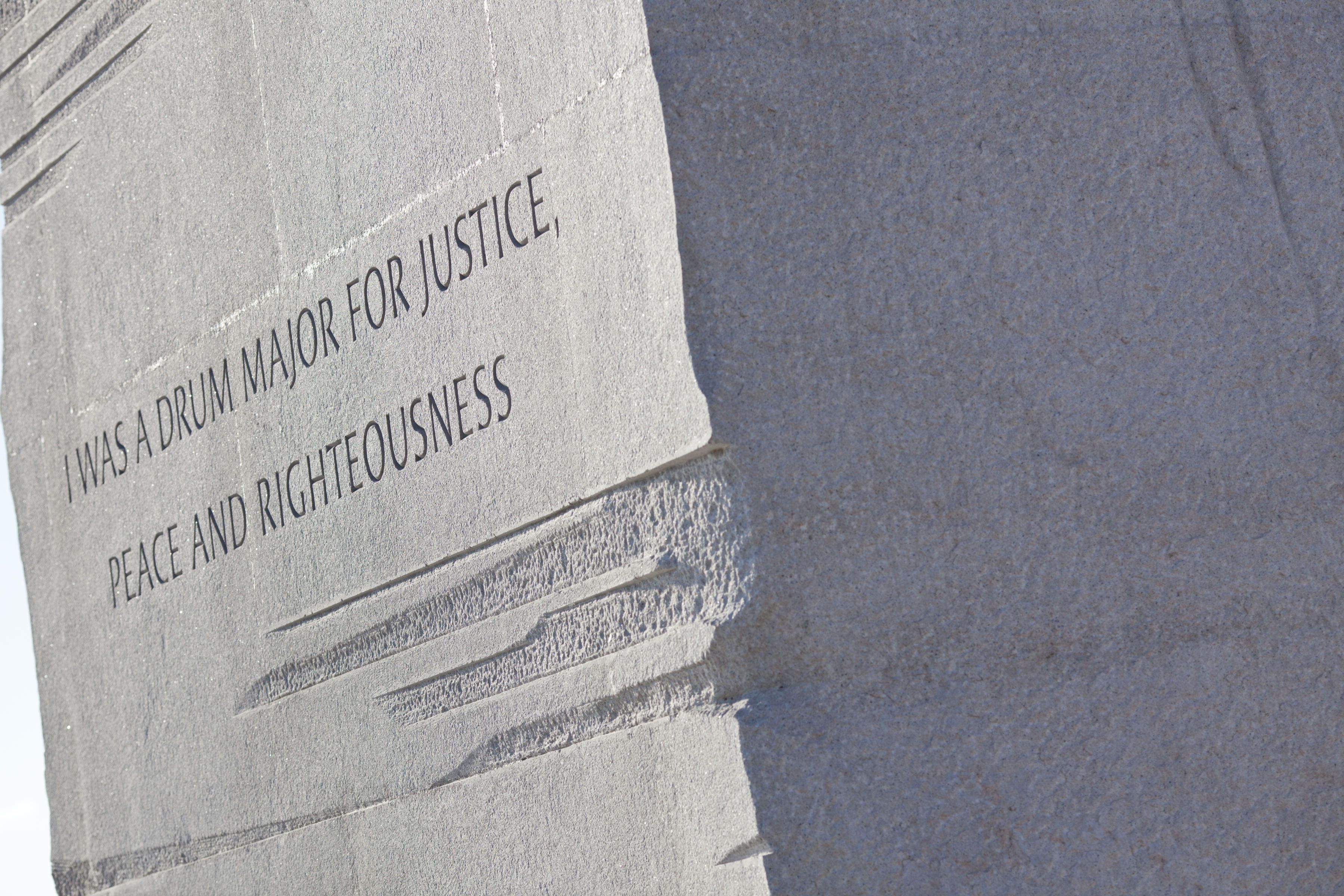 Paraphrased quote on the Martin Luther King Jr. memorial in Washington, DC, January 2012