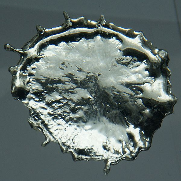 This is a blob of tin metal, the beta allotrope of tin.