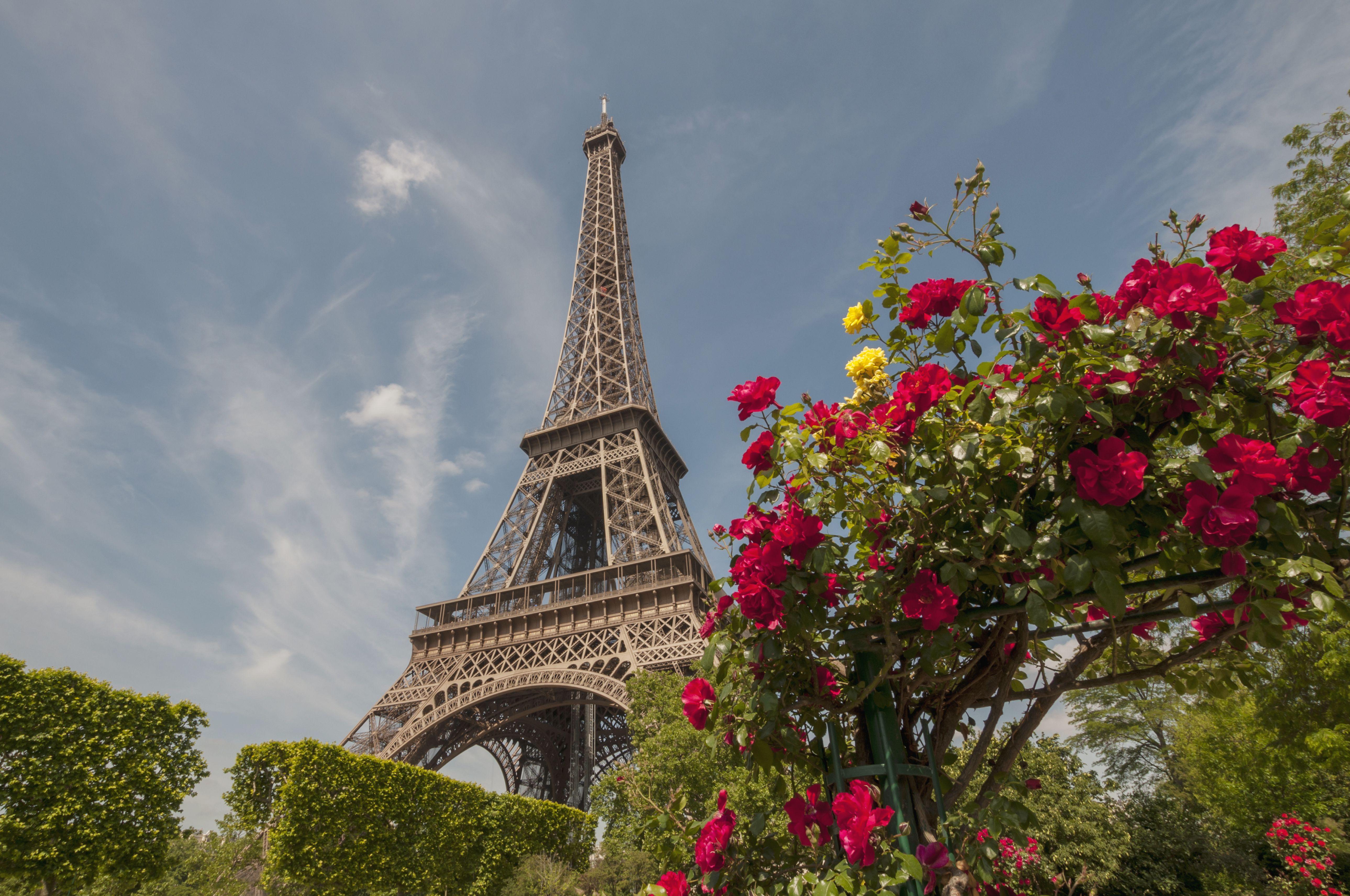 Eiffel Tower, iron lattice, Champ de Mars in Paris, design by Gustave Eiffel, 1889 World's Fair