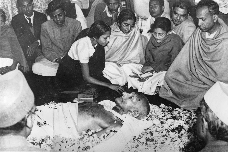 The assassination of Mahatma Gandhi.