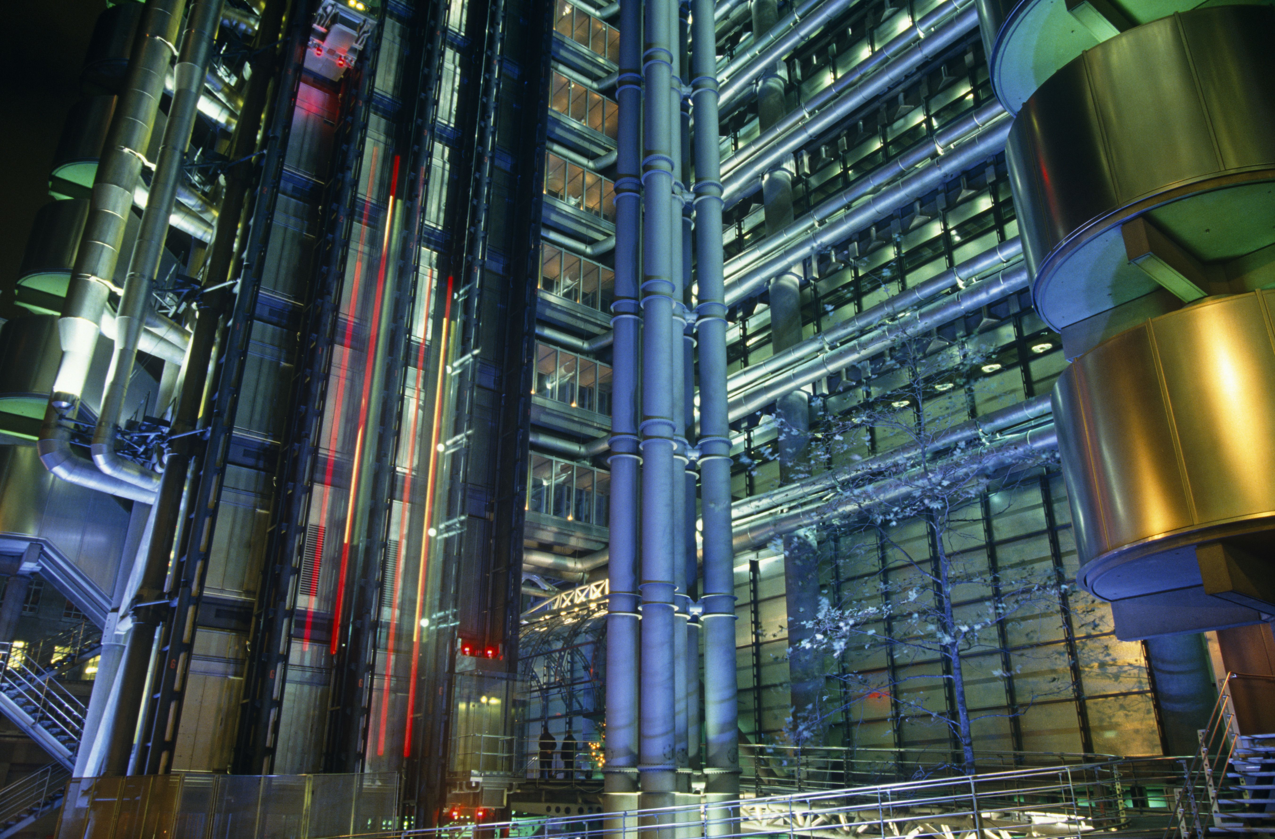 Exterior of Lloyds of London Building Designed by Sir Richard Rogers