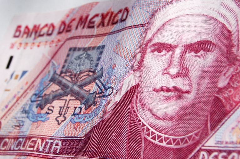 Jose Maria Morelos on a Mexican 50-peso note