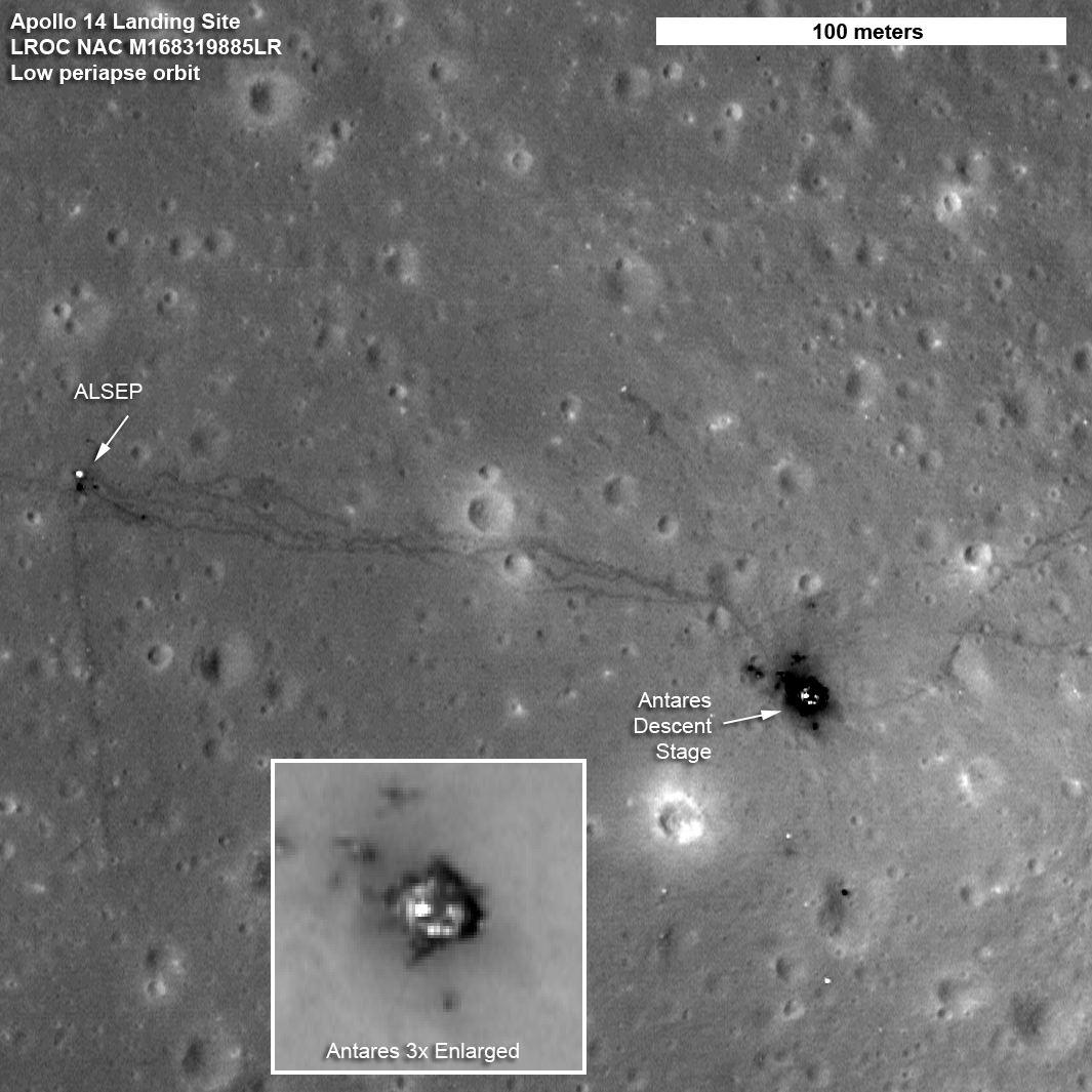 visual proof of Apollo 14 landing