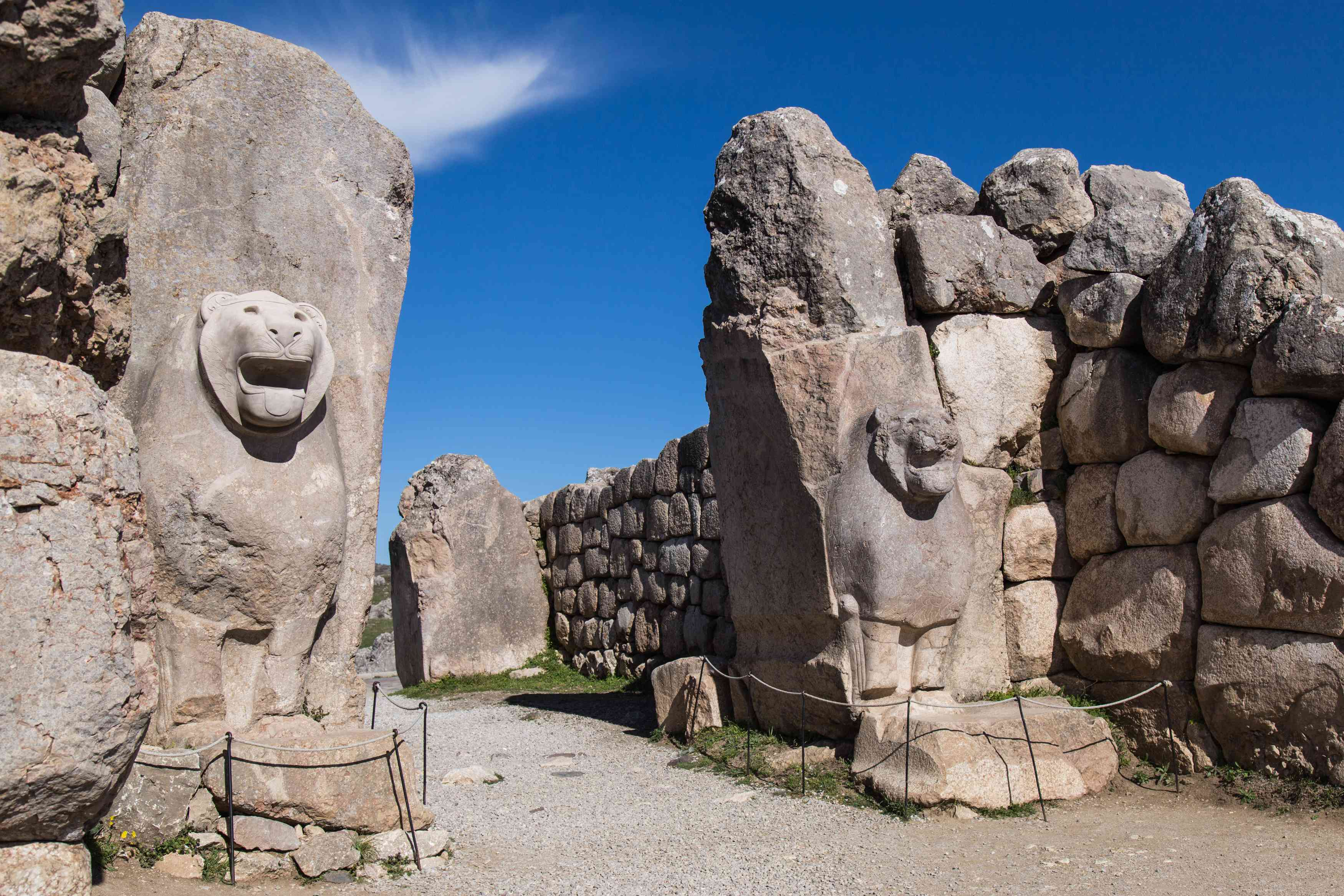 Lion Gate at the Hittite Site of Hattusha