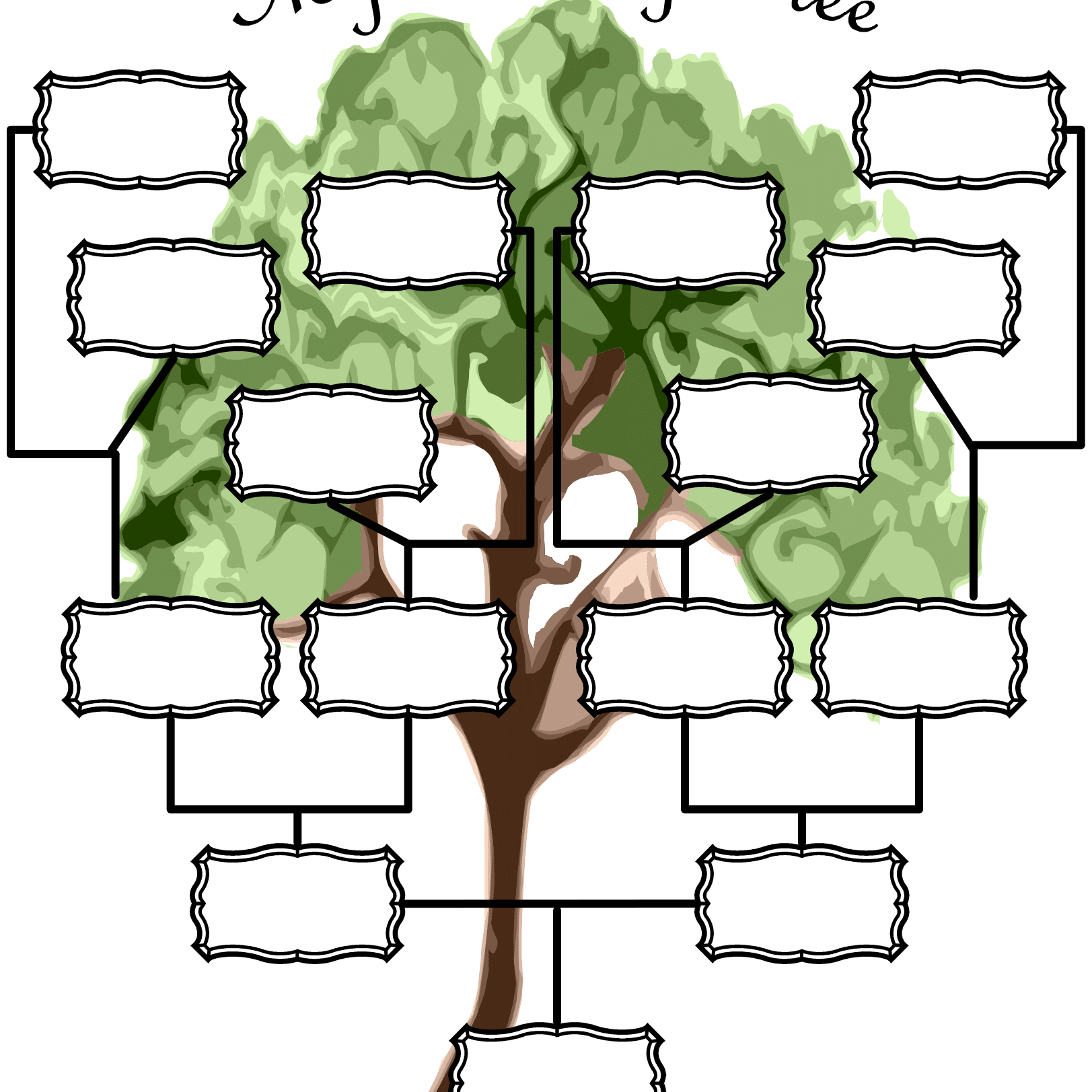 It's just an image of Légend Printable Genealogy Chart