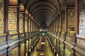 Library (18th century) of Trinity College, Dublin, Ireland