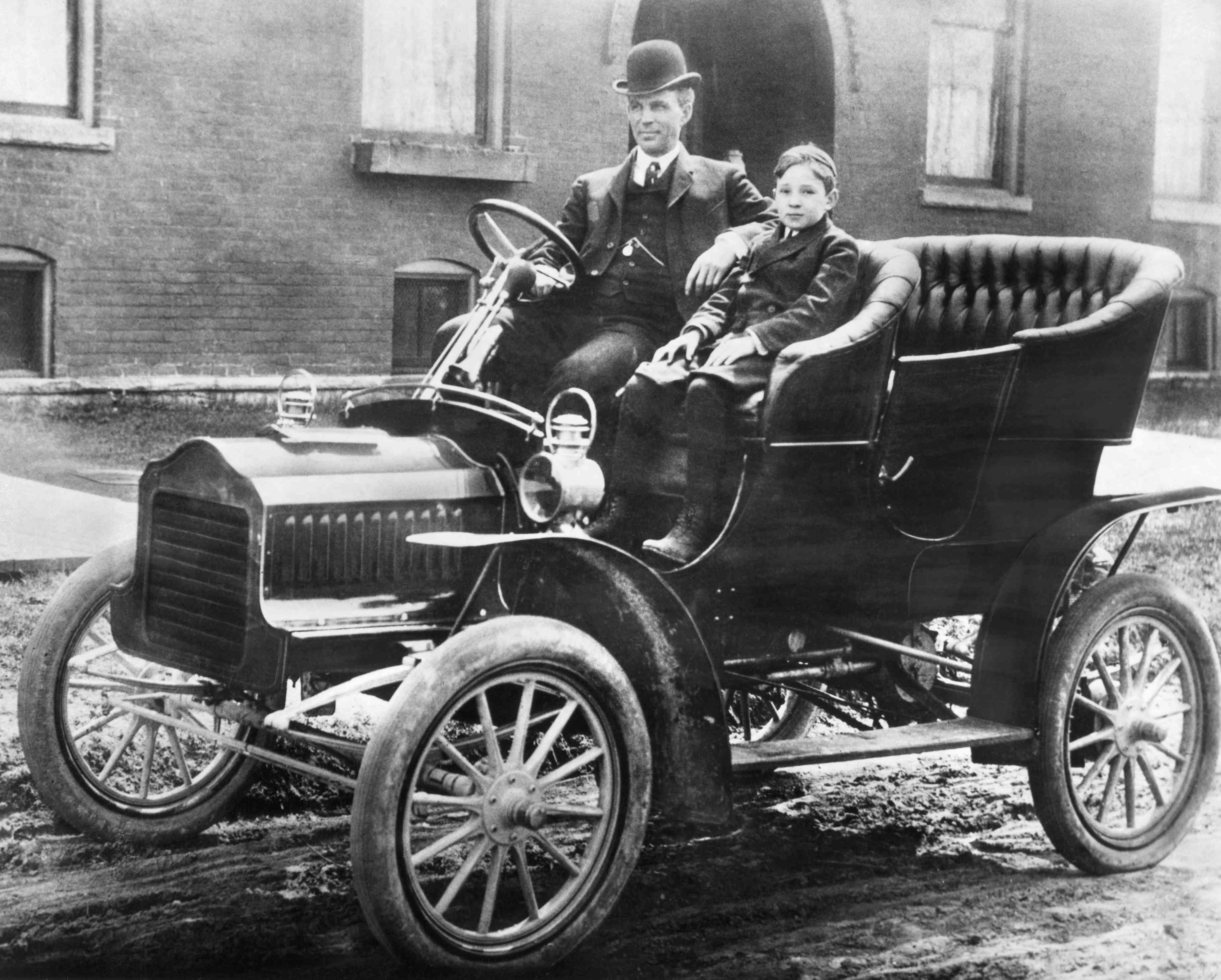 Henry And Edsel Ford In Model F