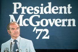 photograph of Senator George McGovern in 1972