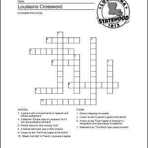 Louisiana Crossword Puzzle