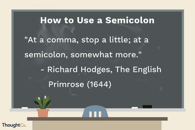 punctuating with semicolons avoiding the full stop