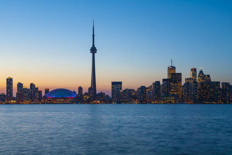 Toronto skyline at twilight