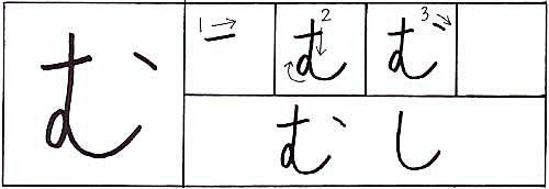 how to write the hiragana mu character