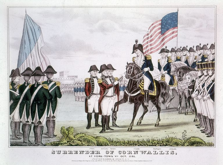 'Surrender of Cornwallis', Yorktown, Virginia, 1781.