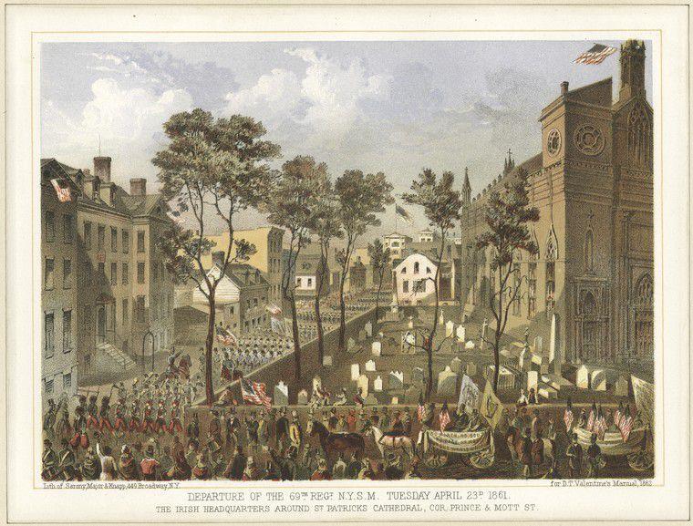 Irish Brigade Departs New York City