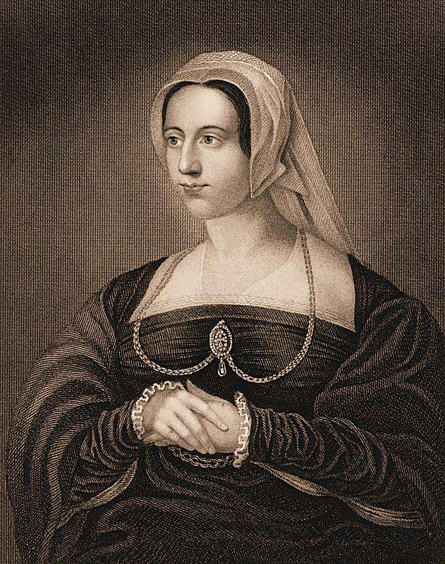 Catherine Parr, after a Holbein painting