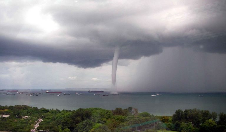 is a waterspout a tornado