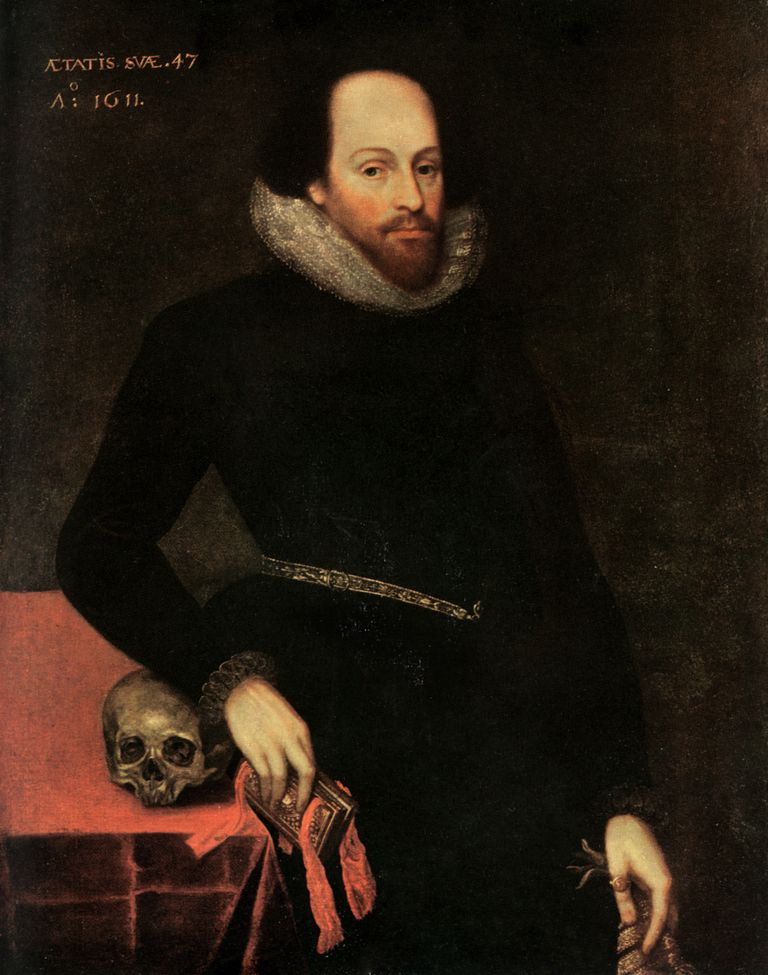 The Ashbourne Portrait of Shakespeare, 16th century.Artist: Cornelius Ketel