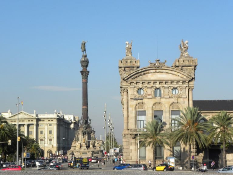 Christopher Columbus Statue in Barcelona