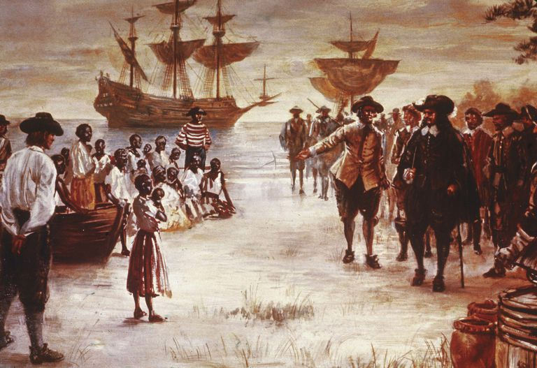 Image result for Africans arrival in Americas 1619